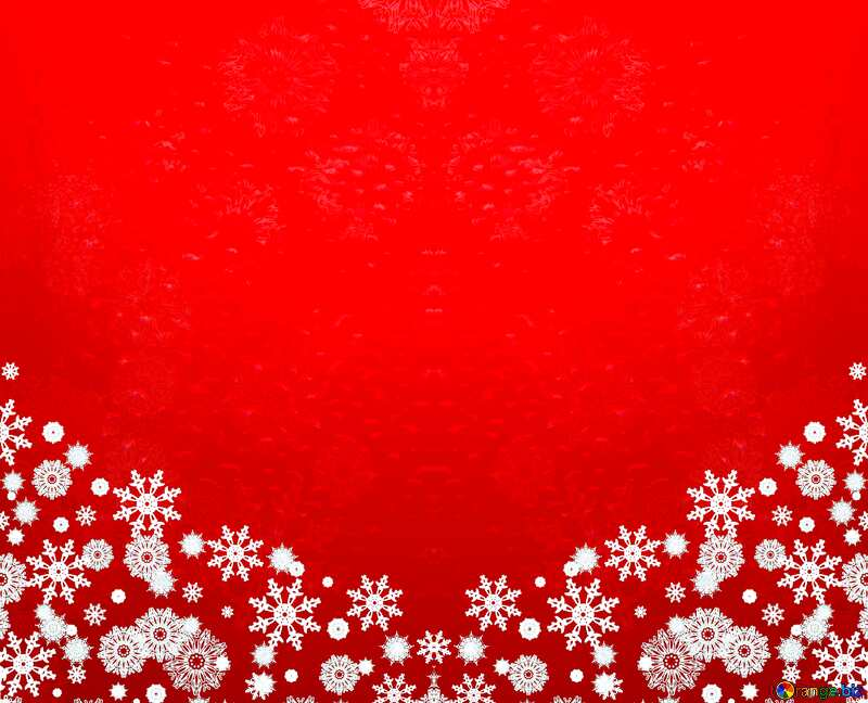 Red Christmas background pattern №40659