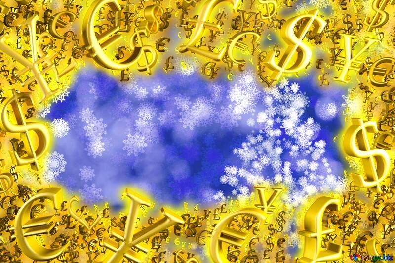 Background Christmas Sales Sale offer discount template Gold money frame border 3d currency symbols business template №40703
