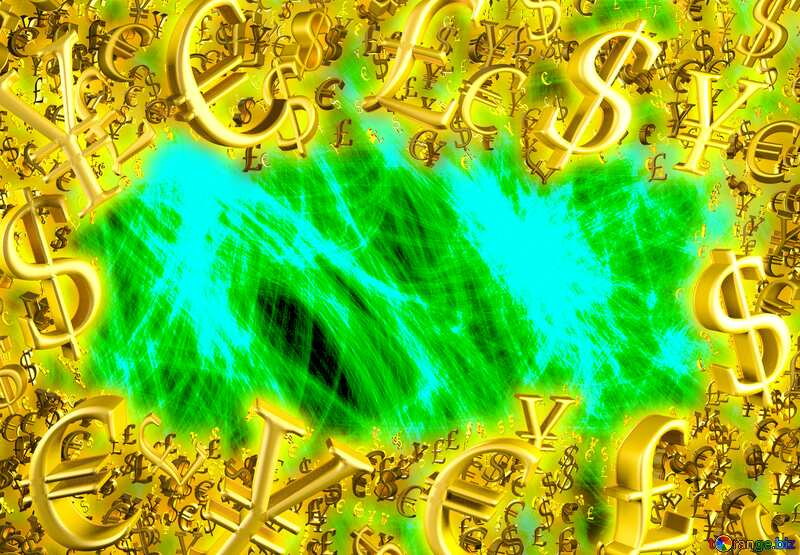 Abstract background Sale offer discount template Gold money frame border 3d currency symbols business template №40644