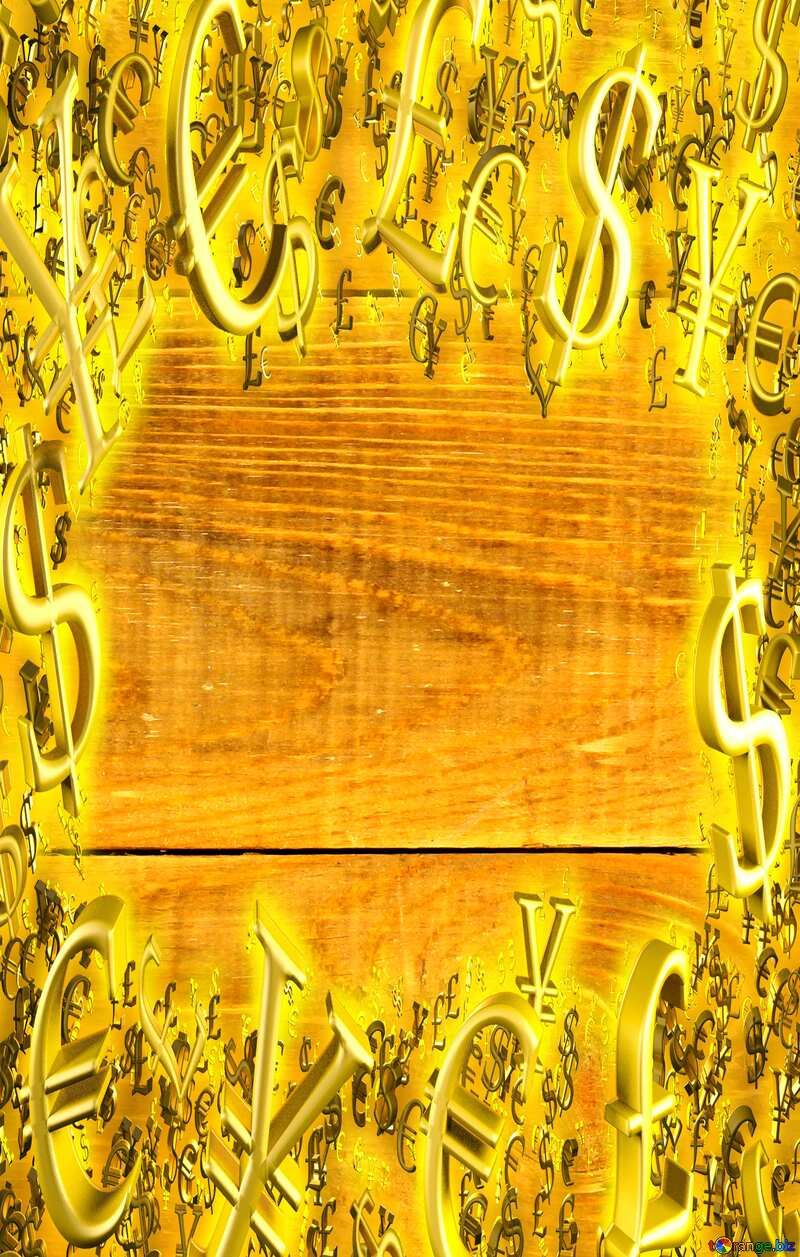Gold money frame Wood Texture Background №37899