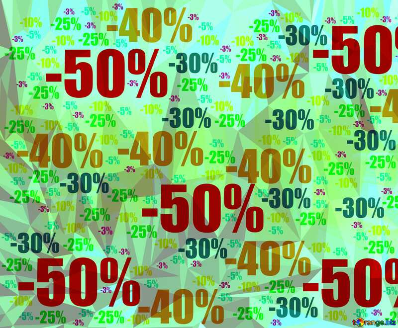 Store discount Polygon background with triangles №51545
