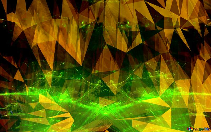 Yellow Futuristic Polygon background with triangles №51526