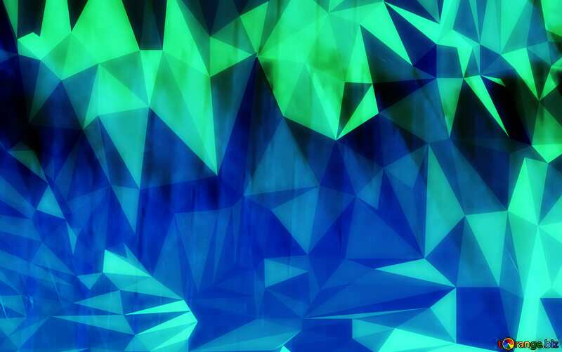 Blue Geometric Polygon background with triangles №51526