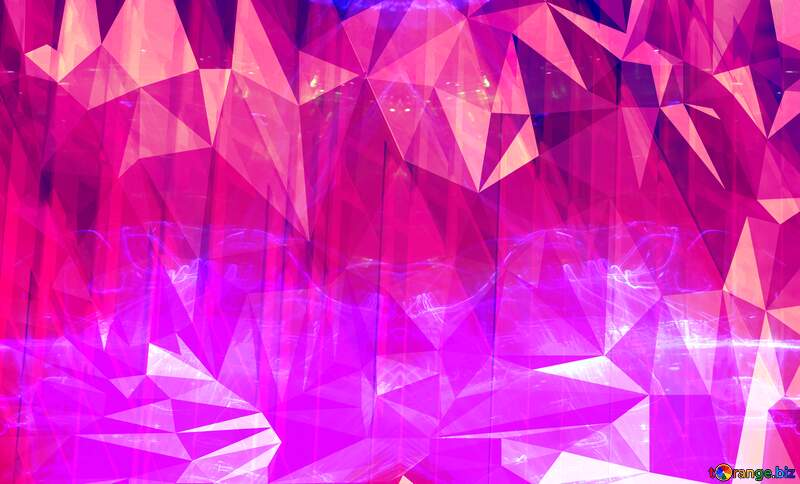 Pink Geometric futuristic Polygon background with triangles №51526