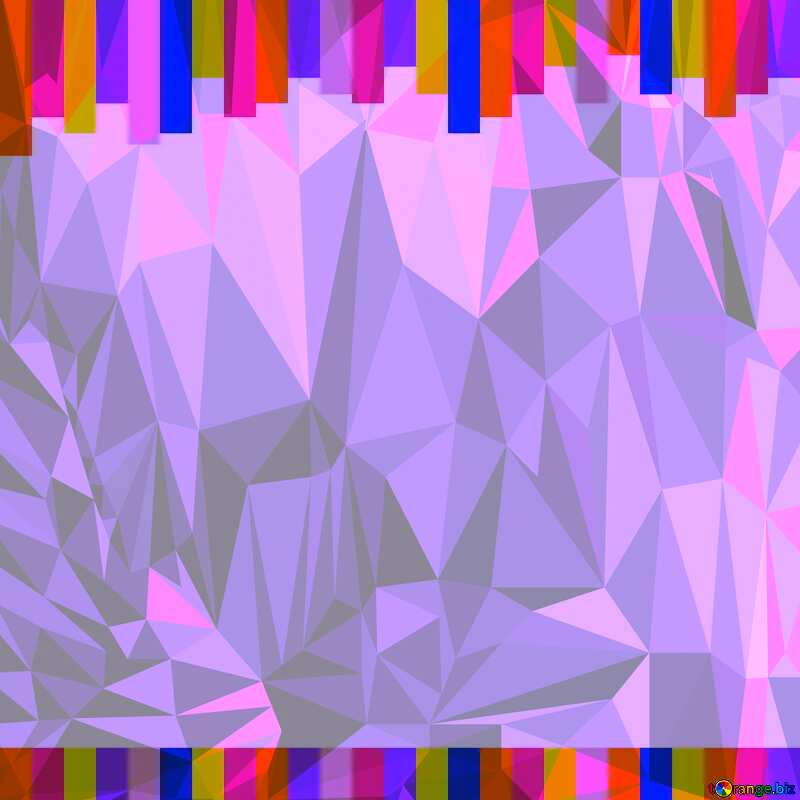 Colorful lines frame Polygon background with triangles №49681