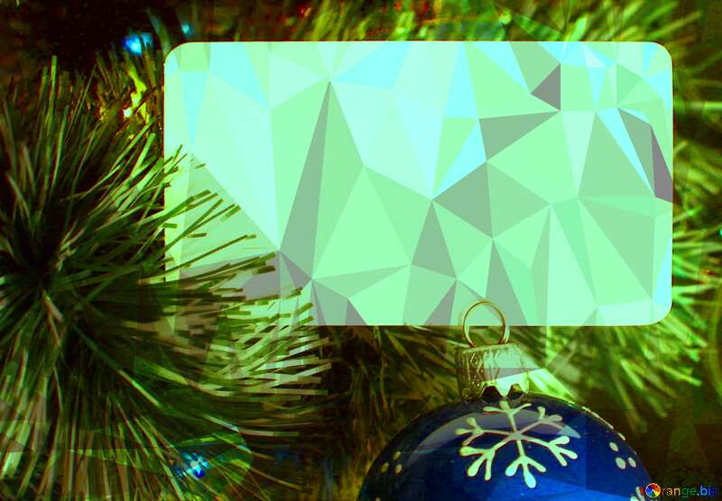 Christmas party green Polygon background with triangles №37841