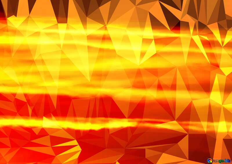 The Scarlet sunset Polygon background with triangles №31611