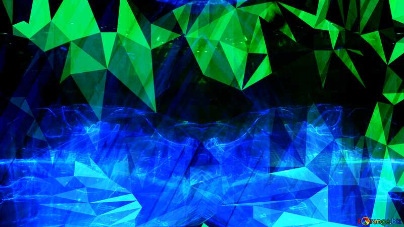 Blue technology Polygon background with triangles №51526
