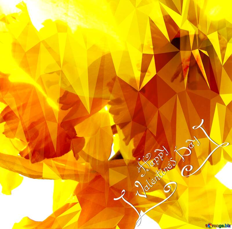 happy valentines day Polygon background with triangles №30915