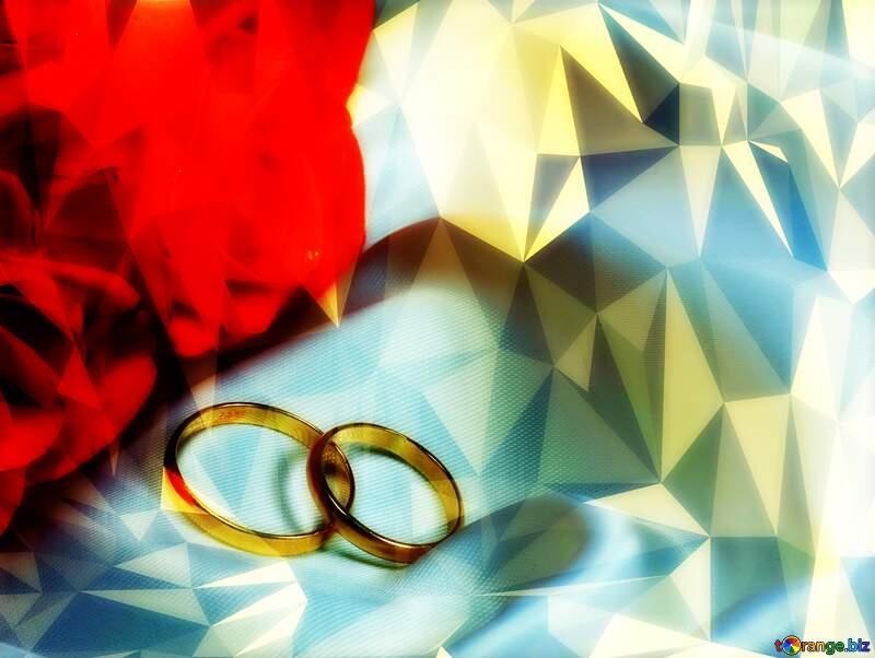 Invitation wedding festive Polygon background with triangles №7235
