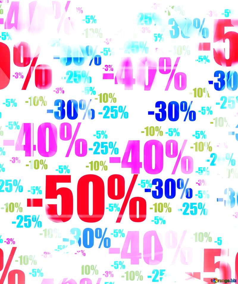 Polygon discount shopping poster background with triangles №51545