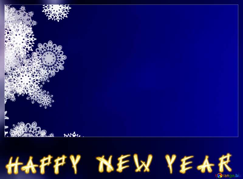 happy new year blank card blue  clipart snowflakes background Christmas frame №40697