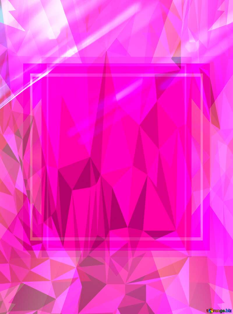 Design Frame Template Polygon abstract geometrical background with triangles №1699