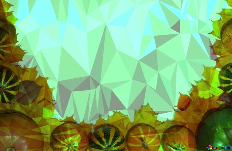 Autumn vegetables frame Polygon abstract geometrical background with triangles №35179