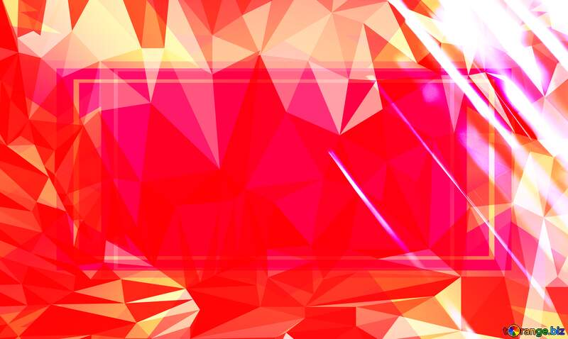 Splash water Red Polygon abstract geometrical background with triangles №1700