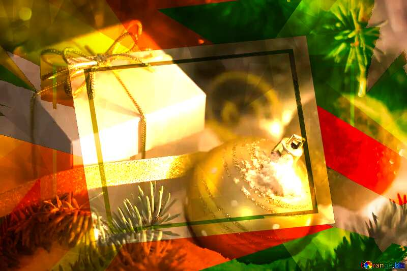 Christmas gifts Polygon background №15365