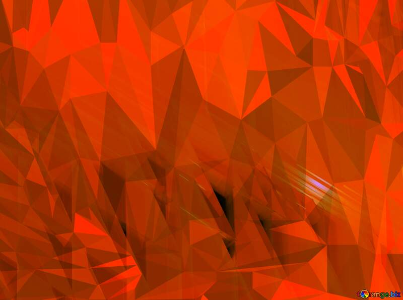 Orange Futuristic Glass Lights Mirrors polygonal Polygon abstract geometrical background with triangles №51525