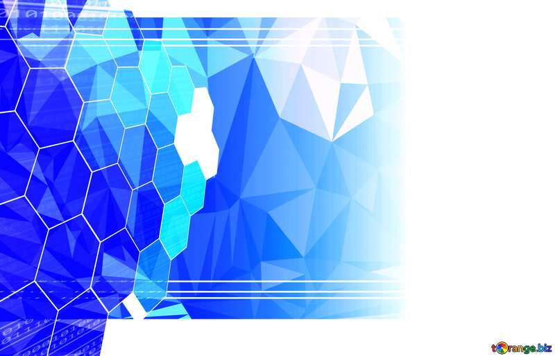 it business technology concept frame Polygon abstract geometrical background with triangles №49674