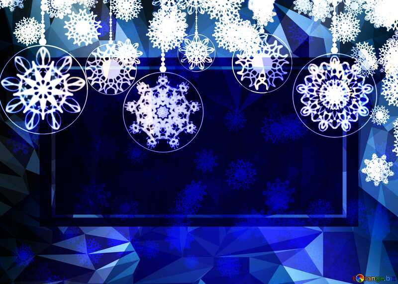Christmas Clipart frame template Polygon abstract geometrical background with triangles №40711