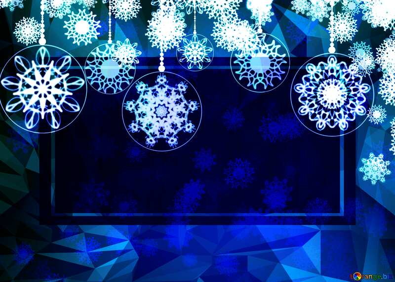 Christmas design frame template Polygon abstract geometrical background with triangles №40711