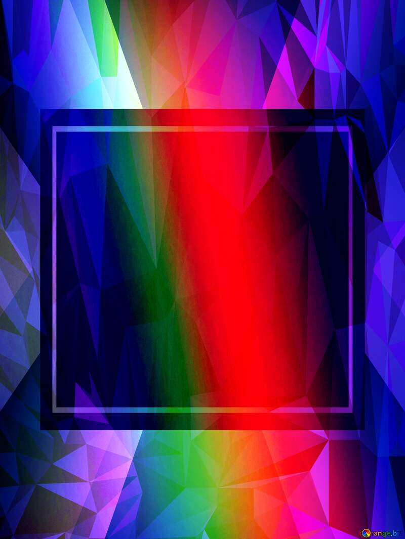 rainbow frame border business template Polygon abstract geometrical background with triangles №43242
