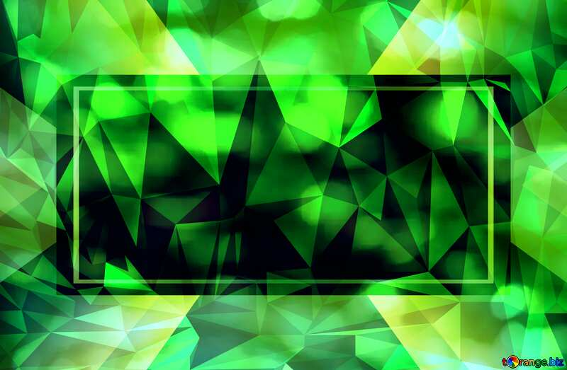 Green promotion business template Polygon abstract geometrical background with triangles №37824