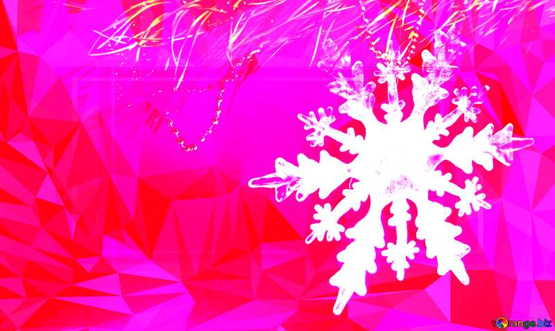 Winter sale snowflake pink Polygon abstract geometrical background with triangles №2393