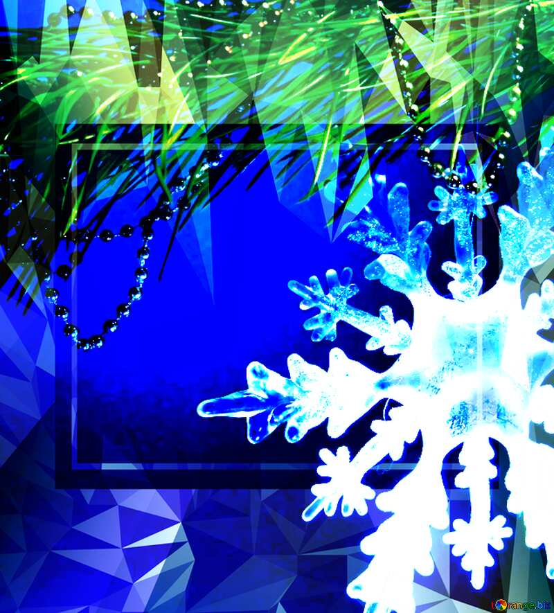 Winter sale snowflake snow template Polygon abstract geometrical background with triangles №2393