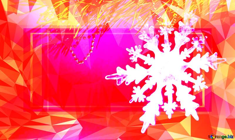 Winter snowflake responsive template Polygon abstract geometrical background with triangles №2393