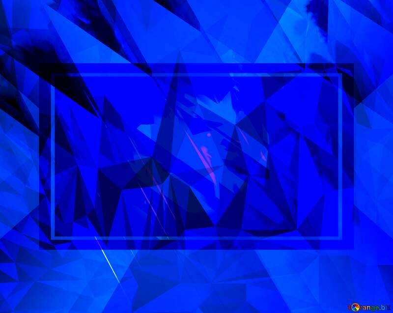 Blue Polygon abstract geometrical background with triangles №51524