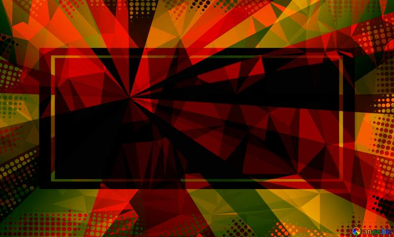 Colors rays Polygon abstract geometrical background with triangles Template frame №49661