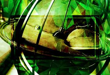 The effect of light. The effect of stained green. Fragment.