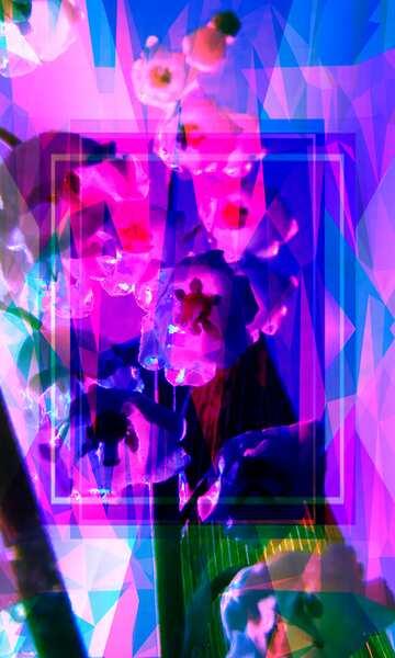 Die Wirkung von Licht. Sehr klare Farben. Bruchstück.