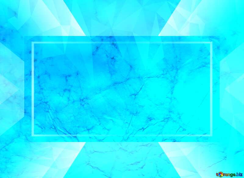 Texture of crumpled paper Polygonal abstract geometrical background with triangles blue Template №16030