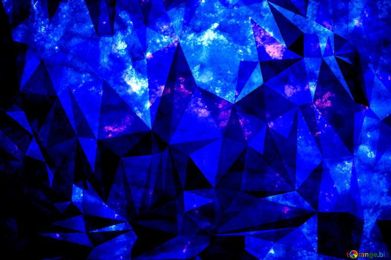 Dark Blue Polygonal abstract geometrical background with triangles №29140