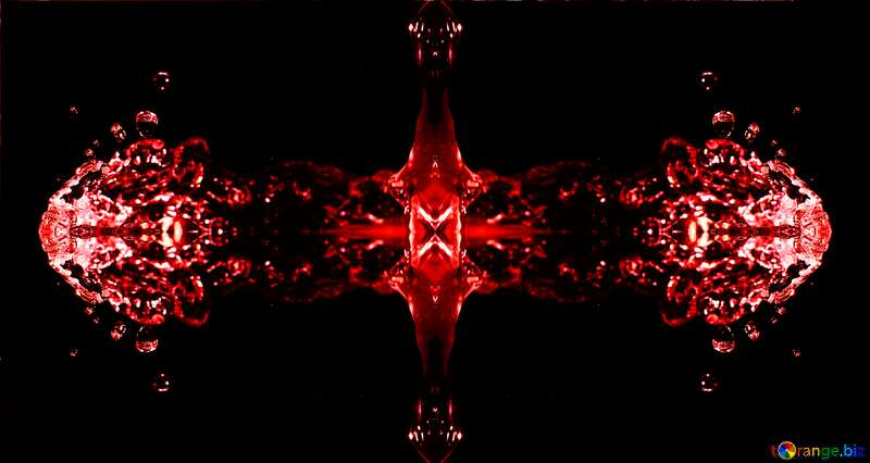 Water splash red pattern №32889