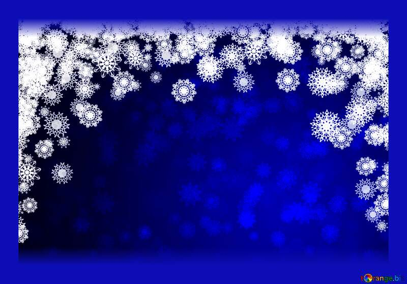 Blue background Christmas and new year dark frame №40710