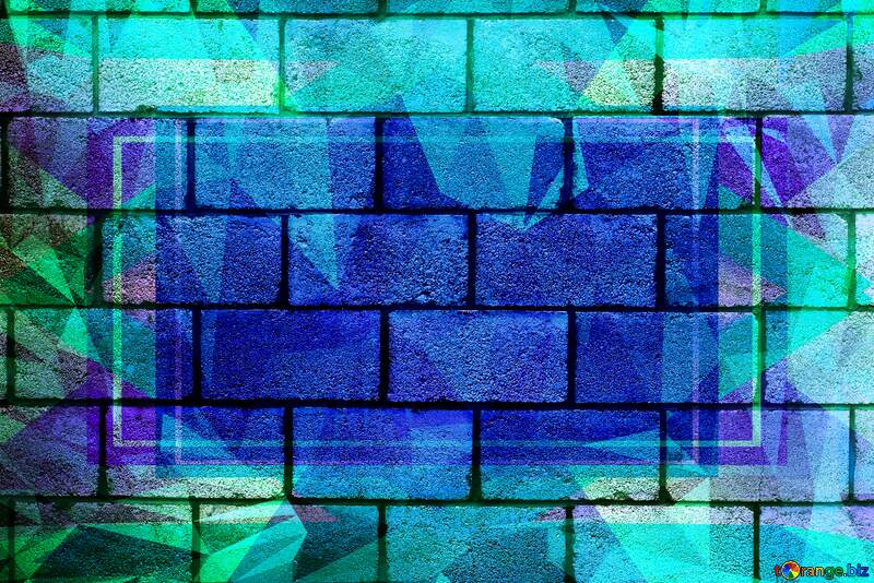 The wall of concrete blocks.texture. Polygon abstract geometrical background with triangles №5320