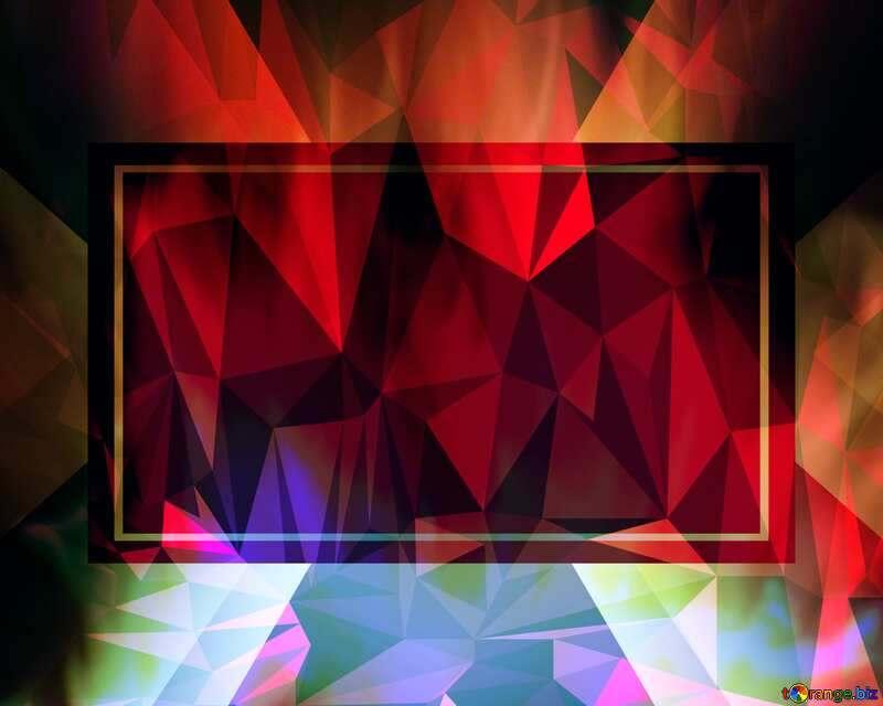 Fire Wall. Polygonal abstract geometrical background with triangles frame №9546
