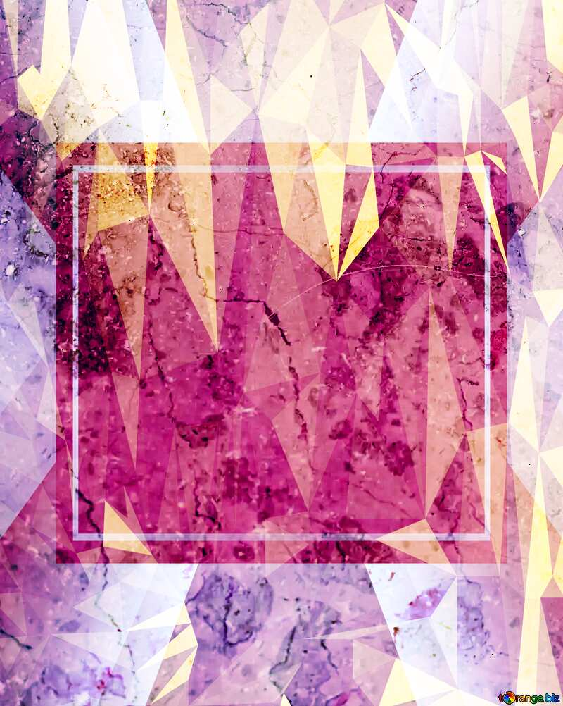Light marble texture Polygonal abstract geometrical background with triangles Pink Template №26997