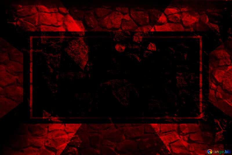Rubble masonry texture. Polygonal abstract geometrical background with triangles Red Template №12852