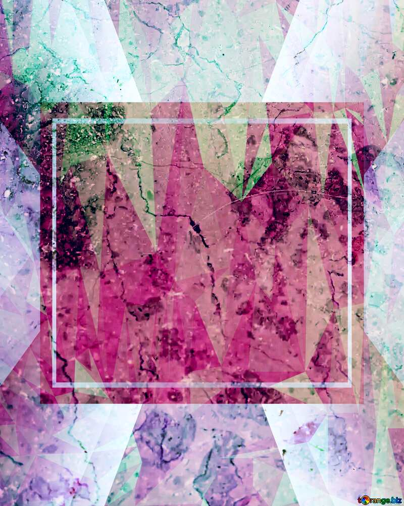 Light marble texture Polygonal abstract geometrical background with triangles stone Template Pink №26997