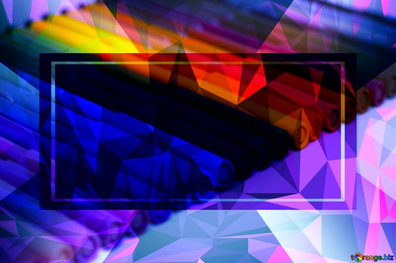 Import markers Polygonal abstract geometrical background with triangles Template №16832