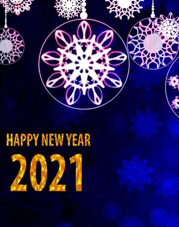 Эффект светлый. Яркие цвета. Фрагмент. Happy New Year 2020.