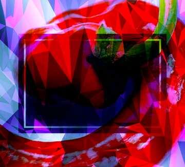 L'effetto della molto luce. I colori molto vivaci. Frammento.