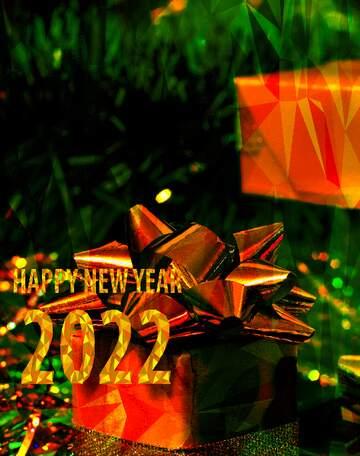 Die Wirkung von Licht. lebendige Farben. Bruchstück. Happy New Year 2020.