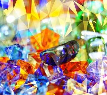L'effetto della molto luce. Colori chiari. Frammento.