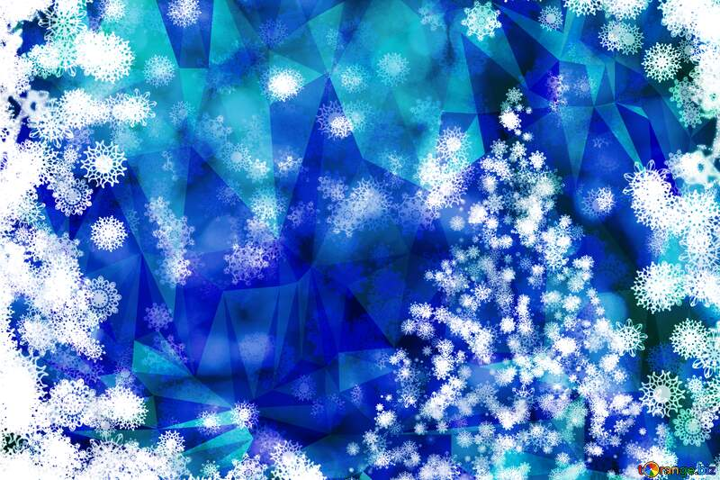 Tree background Christmas ice Polygonal abstract geometrical background with triangles №40703