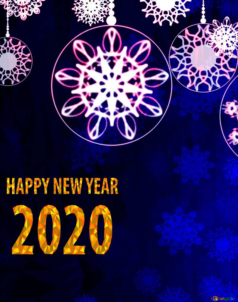 happy new year 2020 Clipart Polygonal abstract geometrical background with triangles Christmas №40711