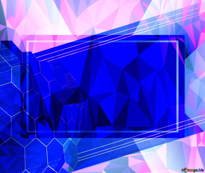 it business information technology concept background Polygonal abstract geometrical background with triangles Template №49674
